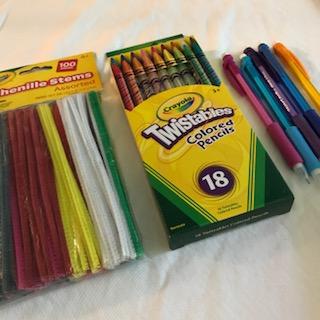 Chenille Stems, Twistable Colored Pencils, Mechanical Pencils