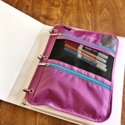 Pencil Storage Pouch goes in first