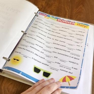 Summer Story MadLibs Printable